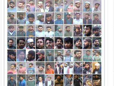 70 आरोपियों का स्केच जारी