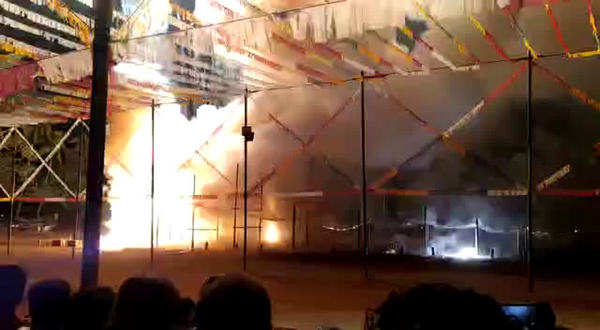 watch accident during fireworks at nadakkavu temple tripunithura