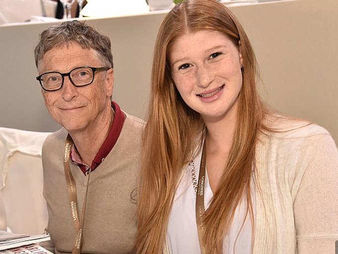 अपने पिता बिल गेट्स के साथ जेनिफर गेट्स