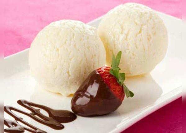 स्किम्ड दूध वाली आइसक्रीम