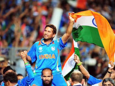 2011 वर्ल्ड कप जीत के बाद सचिन तेंडुलकर (फाइल)