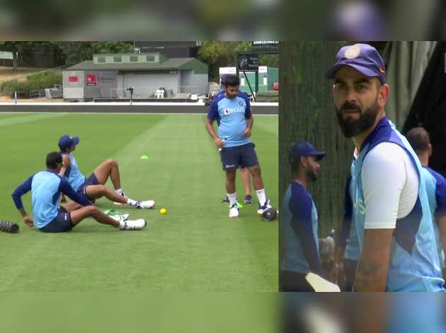 न्यू जीलैंड के साथ पहले एकदिवसीय मैच के लिए टीम इंडिया ने की प्रैक्टिस