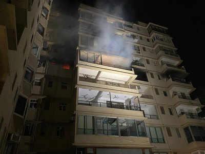 इस बिल्डिंग में लगी आग