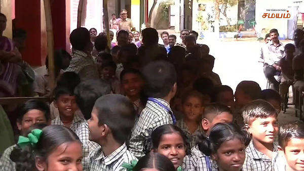 police adopted govt middle school in chennai video
