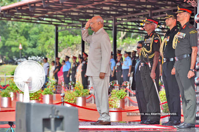 President Kovind presents Colours to the Army Aviation Corps