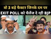 दिल्ली चुनाव : 3 फैक्टर जिनके दम पर एग्जिट पोल को चैलेंज दे रही BJP