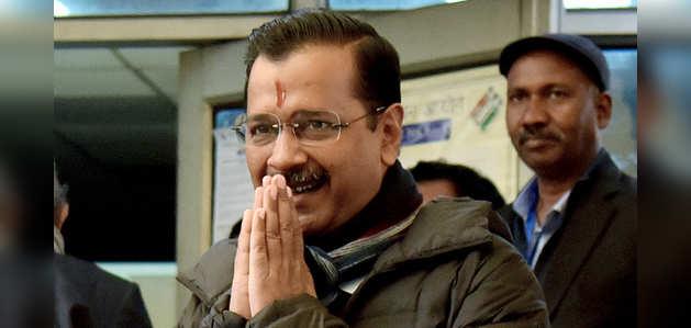 दिल्ली चुनाव परिणाम: शुरुआती रुझान में AAP को बढ़त