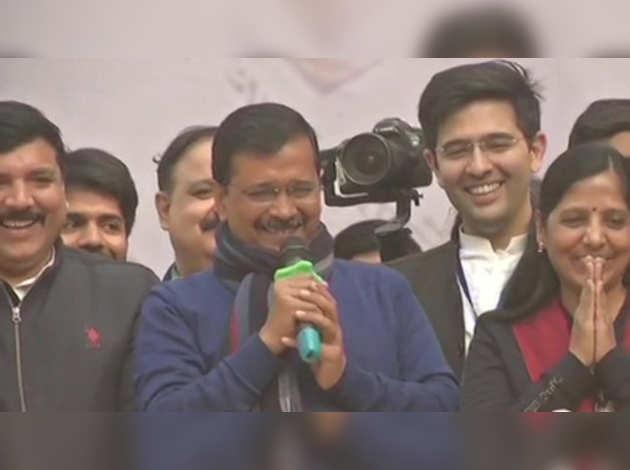 दिल्ली विधानसभा चुनाव: बंपर जीत के बाद बोले केजरीवाल, दिल्ली ने बेटे पर जताया भरोसा