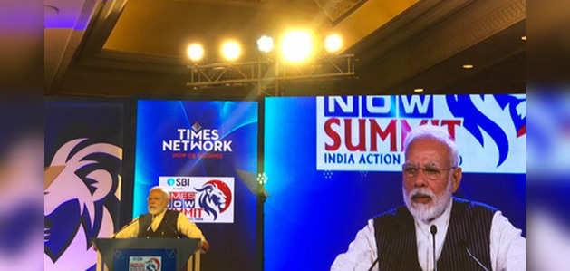 टाइम्स नाउ समिटः 5 ट्रिलयन इकॉनमी के मुश्किल लक्ष्य की तरफ काम जरूरी, बोले प्रधानमंत्री नरेंद्र मोदी