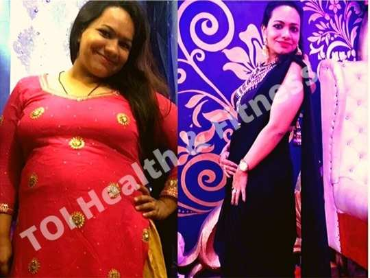 weight loss transformation story how this woman lost 20 kg in 6 months read diet chart