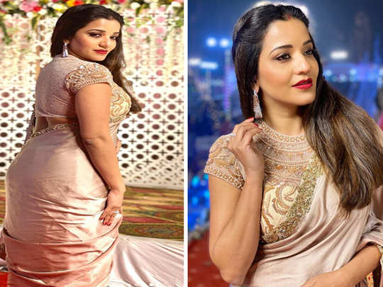 watch bhojpuri actress monalisa glamorous desi look photos goes viral on internet