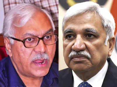 पूर्व मुख्य चुनाव आयुक्त एसवाई कुरैशी (बाएं) और मौजूदा मुख्य चुनाव आयुक्त सुनील अरोड़ा