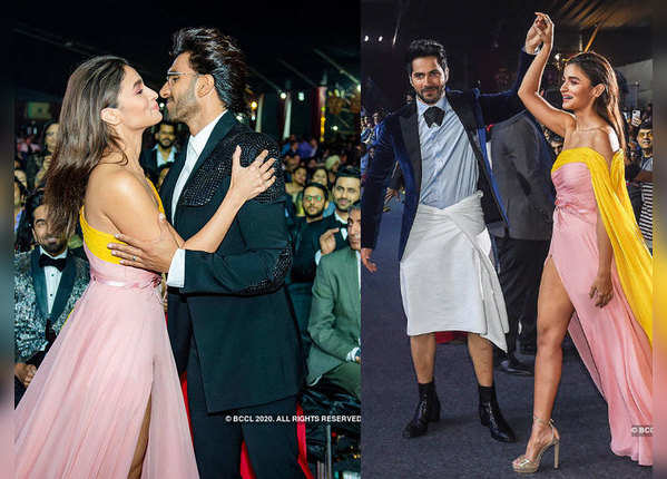 तस्वीरों में देखें, फिल्मफेयर अवॉर्ड्स में सितारों ने की जमकर मस्ती