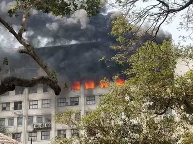 जीएसटी भवन में आग