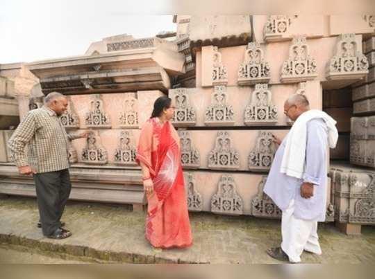Ayodhya: Tourists visit Ramjanmabhoomi Nyas kaaryashala in Ayodhya. The Supreme ...