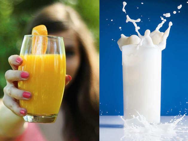 दूध या जूस, सुबह की पहली ड्रिंक के लिहाज से क्या है बेहतर, जानें
