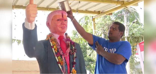डॉनल्ड ट्रंप की पूजा करता है यह भारतीय, दौरे के दौरान जताई मिलने की इच्छा
