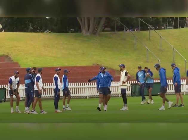 न्यूजीलैंड के खिलाफ टेस्ट सीरीज से पहले टीम इंडिया ने बहाया पसीना