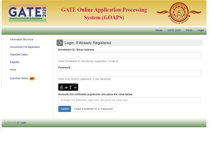gate exam 2020 answer key