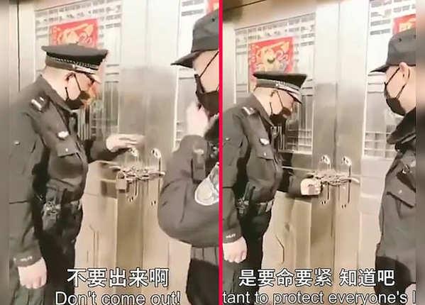 2- पुलिस ने खुद किया दरवाजा सील