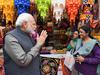 इंडिया गेट पर हुनर हाट देखने पहुंचे PM मोदी, कुल्लढ़ वाली चाय भी पी