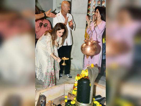 mahashivratri hrithik roshan with family at shiv temple in mumbai