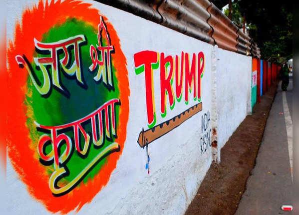 दीवारों की रंगाई-पुताई का काम जोरों पर
