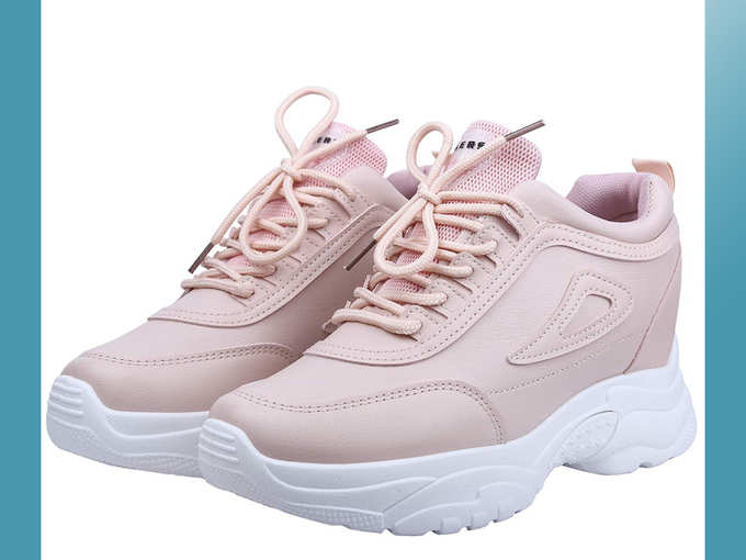 Latest Ladies Inner High Heel Sports Lace Running Shoes