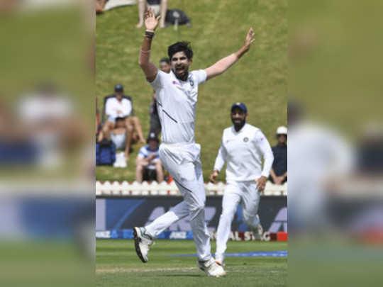 Wellington: Indias Ishant Sharma successfully appeals the wicket of New Zealand...