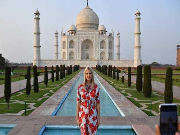 डॉनल्ड ट्रंप के साथ बेटी इवांका भी आईं भारत, देखिए तस्वीरें