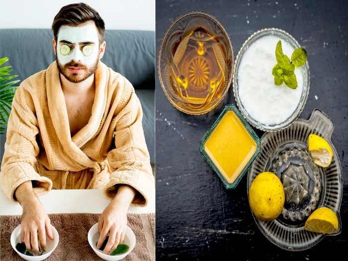 natural face pack for men for glowing skin in hindi