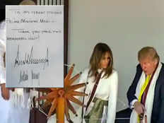 its not ecg or seismograph twitter trolls trumps signature in visitors book