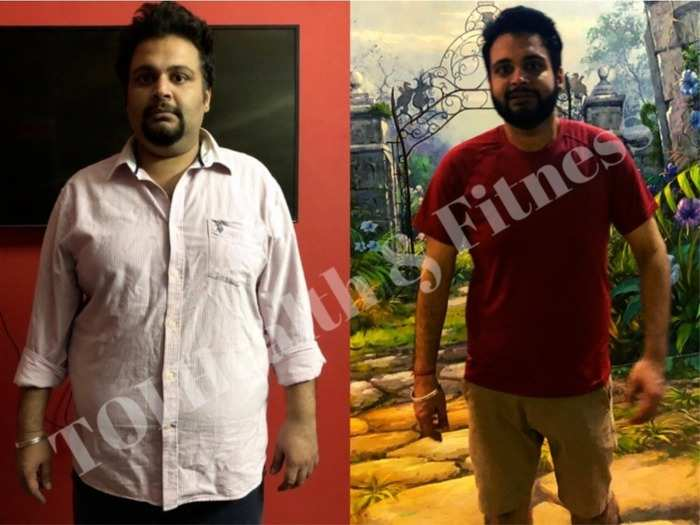 indian weight loss success story heres how this guy lost 32 kilos in 9 months see before and after pictures