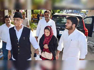 आजम खान, तंजीन फातिमा और अब्दुल्ला आजम (फाइल फोटो)