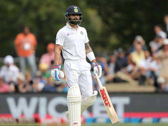 virat kohlis poor form continues dismissed for three runs in second test against new zealand at christchurch