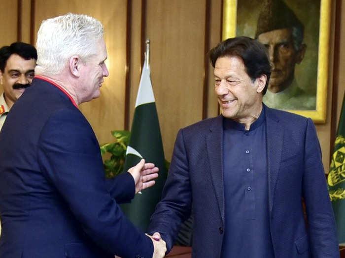 Dean Jones with Imran