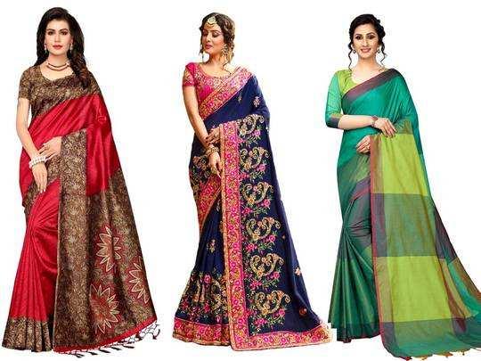 Silk with Blouse Piece Saree