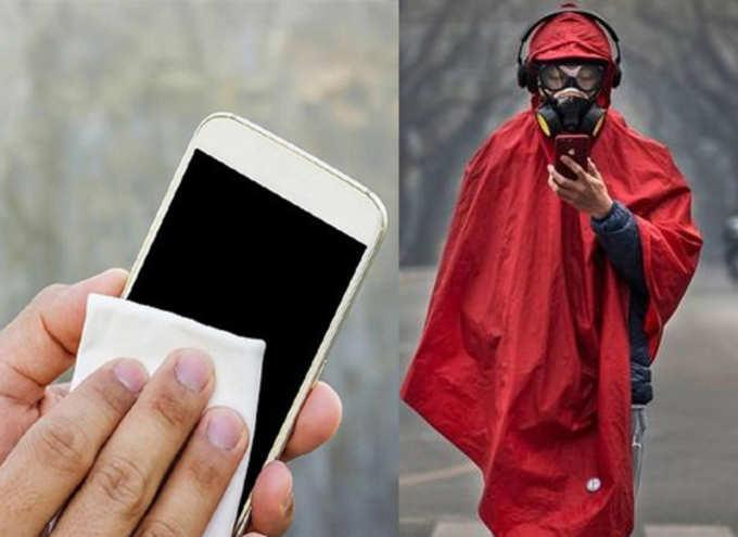 स्मार्टफोन स्वच्छ ठेवल्यास करोनाची भीती नाही