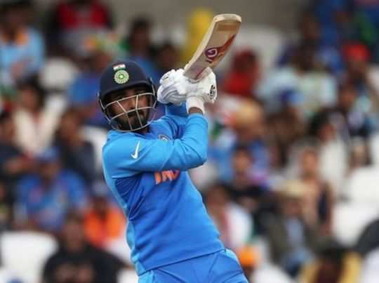 FILE PHOTO: Indias KL Rahul in action
