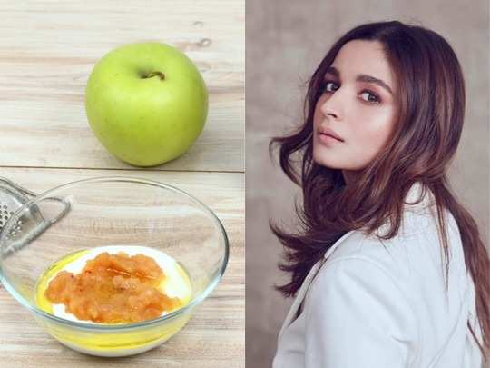 5 apple face packs for glowing whitening skin