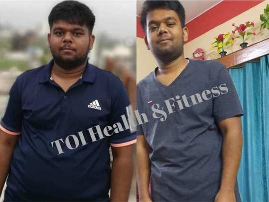real life weight loss transformation story of a student who lost 20kg in 4 months read diet chart