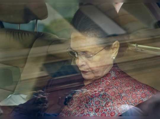 New Delhi: Congress President Sonia Gandhi arrives at Parliament during the ongo...