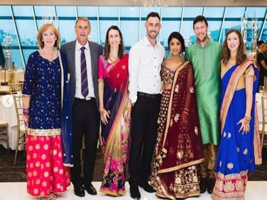 glenn maxwell girlfriend vini raman took to social media to share photos from their indian engagement