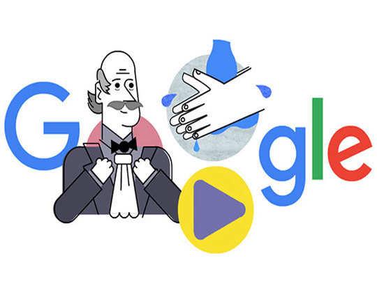 गूगल के होमपेज पर हैंडवॉश के फायदे बताने वाले डॉक्टर, दिखा खास डूडल
