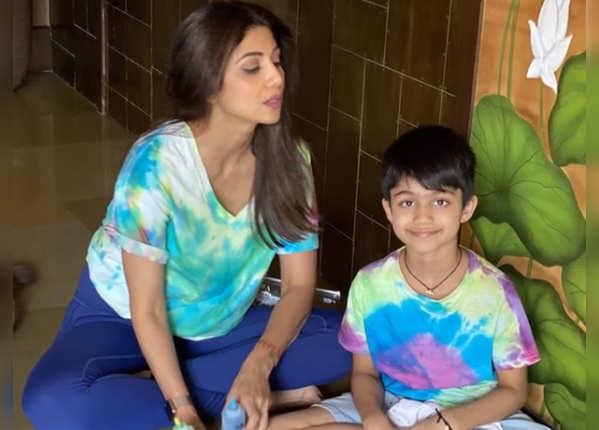 शिल्पा ने बच्चों के साथ किया टाइम स्पेंड
