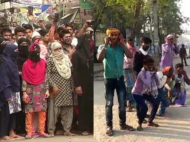 भारत में कोरोना वायरस: लोग नहीं आ रहे बाज, लॉकडाउन के बावजूद सड़क, मार्केट में भीड़