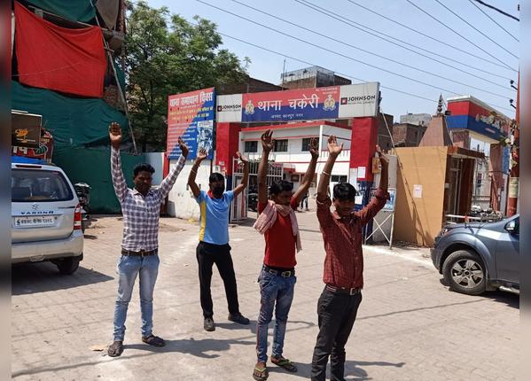 कानपुर में यूं दी गई सजा