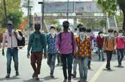 लॉकडाउन के बाद पैदल जयपुर से बिहार के लिए निकले 14 मजदू...