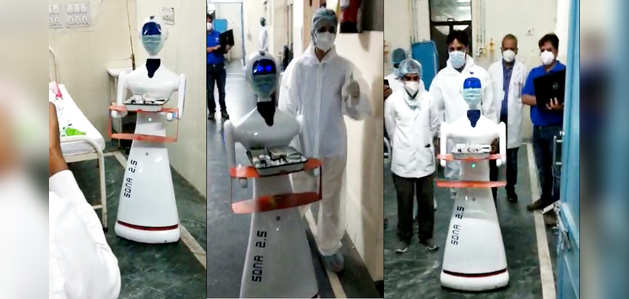 Covid-19: अब कोरोना वायरस मरीजों की देखभाल करेगा रोबोट, जयपुर के हॉस्पिटल में सफल रहा डेमो