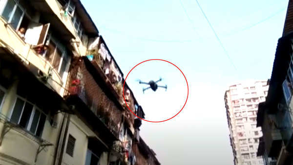 covid 19 outbreak mumbai police using drones to monitor situation amid curfew